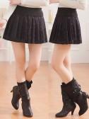9127  时尚百搭蕾丝烫钻松紧腰半身裙单裙超短裙