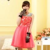 9704桃红 俏皮受宠玫瑰公主裙末胸小礼服连衣裙(送隐形带)
