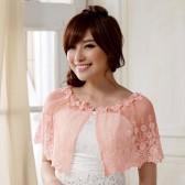 9615粉色  欧美范婚纱礼服晚宴披肩蕾丝百搭遮肩甜美公主衫大码小披肩