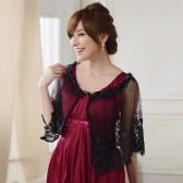 9615黑色  欧美范婚纱礼服晚宴披肩蕾丝百搭遮肩甜美公主衫大码小披肩