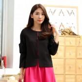 9936黑色 韩版百搭短外套小香风开衫长袖高档大码女装披肩小外套