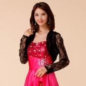 9670黑色   四季防晒空调衫韩版小披肩蕾丝长袖大码小外套薄款