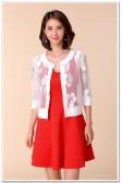 9676红色  时尚性感吊带裙高腰显瘦大码短裙A字裙针织礼服连衣裙