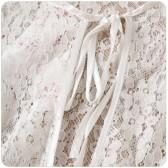 9763白色 名媛范百搭沙滩防晒四季披肩开衫大码小外套薄款斗篷式小外搭蕾丝姐妹衫